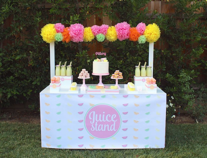 Sweet Stand from a Fruity Lemonade Stand Birthday Party via Kara's Party Ideas | KarasPartyIdeas.com (7)