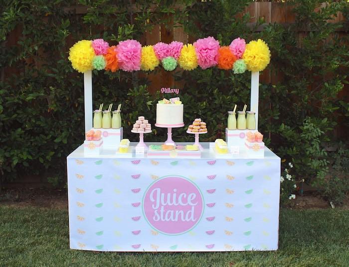 Sweet Stand from a Fruity Lemonade Stand Birthday Party via Kara's Party Ideas | KarasPartyIdeas.com (7)