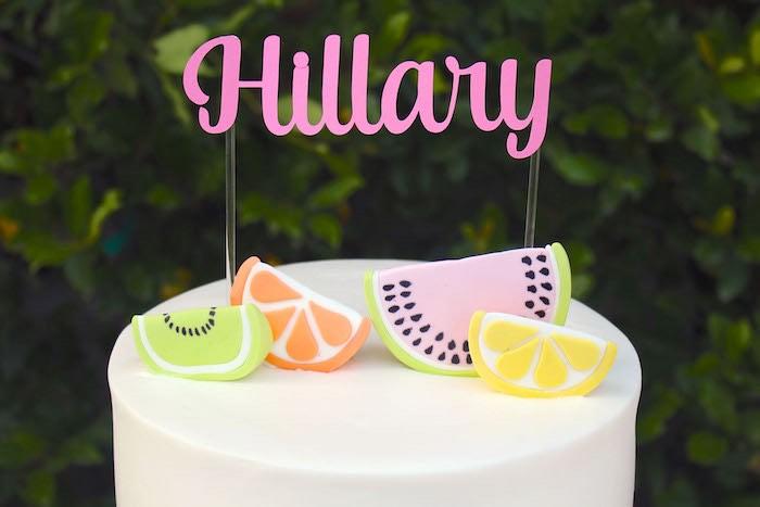 Cake Details from a Fruity Lemonade Stand Birthday Party via Kara's Party Ideas | KarasPartyIdeas.com (6)