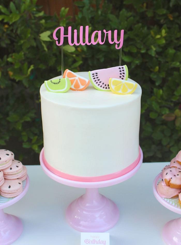 Cake from a Fruity Lemonade Stand Birthday Party via Kara's Party Ideas | KarasPartyIdeas.com (5)