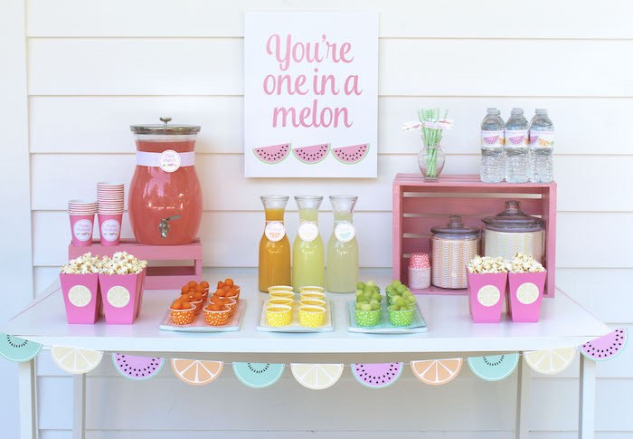You're one in a Melon Table from a Fruity Lemonade Stand Birthday Party via Kara's Party Ideas | KarasPartyIdeas.com (57)