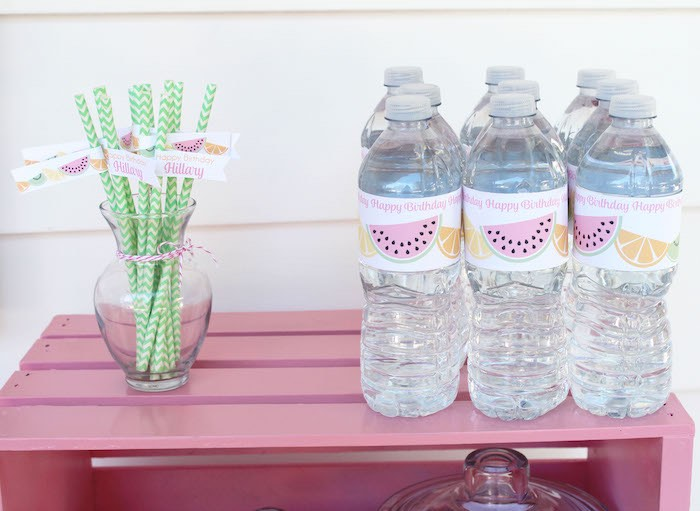 Drinks from a Fruity Lemonade Stand Birthday Party via Kara's Party Ideas | KarasPartyIdeas.com (55)