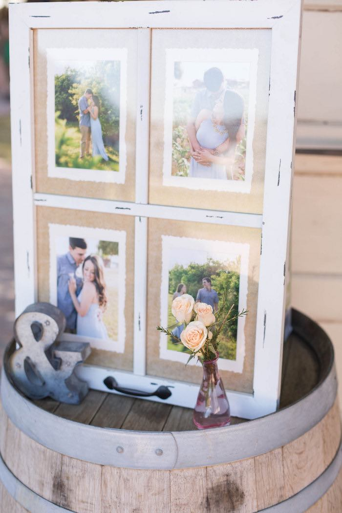 Rustic Photo Frame + Decor from a Garden Bridal Shower via Kara's Party Ideas | KarasPartyIdeas.com (36)