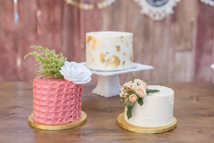 Cakes from a Garden Bridal Shower via Kara's Party Ideas | KarasPartyIdeas.com (28)