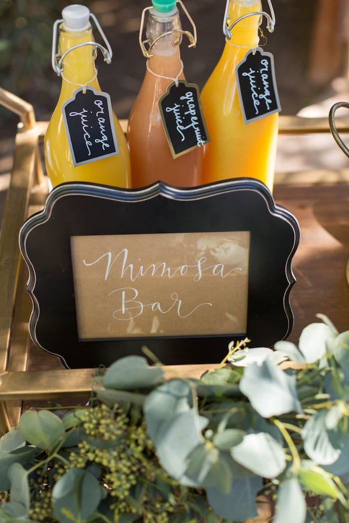 Mimosa Bar Signage + Drink Labels from a Garden Bridal Shower via Kara's Party Ideas | KarasPartyIdeas.com (24)