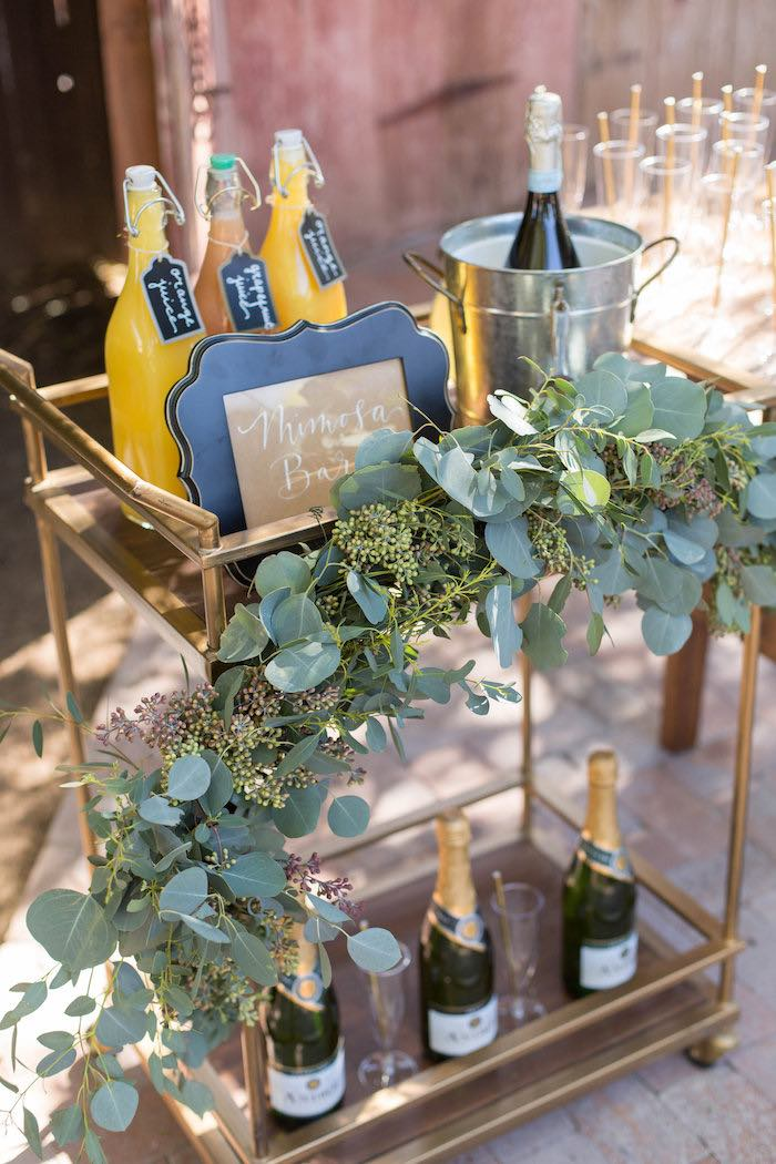 Mimosa Bar from a Garden Bridal Shower via Kara's Party Ideas | KarasPartyIdeas.com (22)