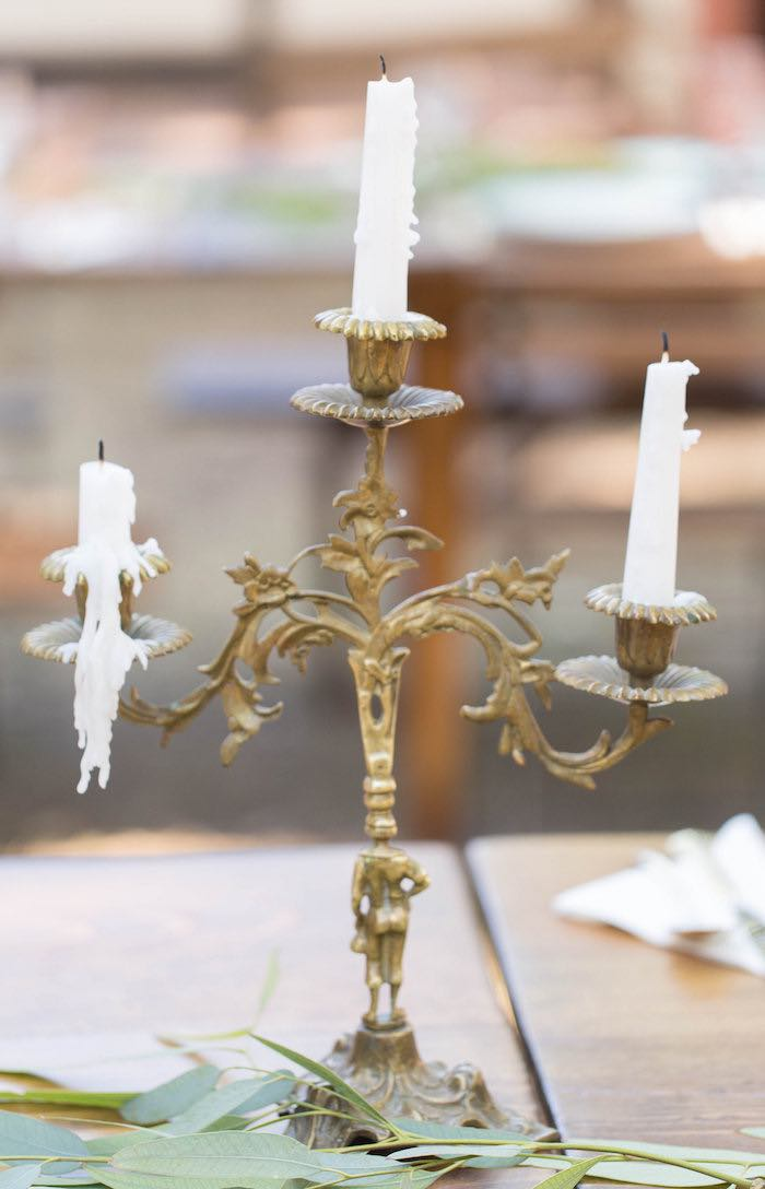 Candlestick from a Garden Bridal Shower via Kara's Party Ideas | KarasPartyIdeas.com (20)