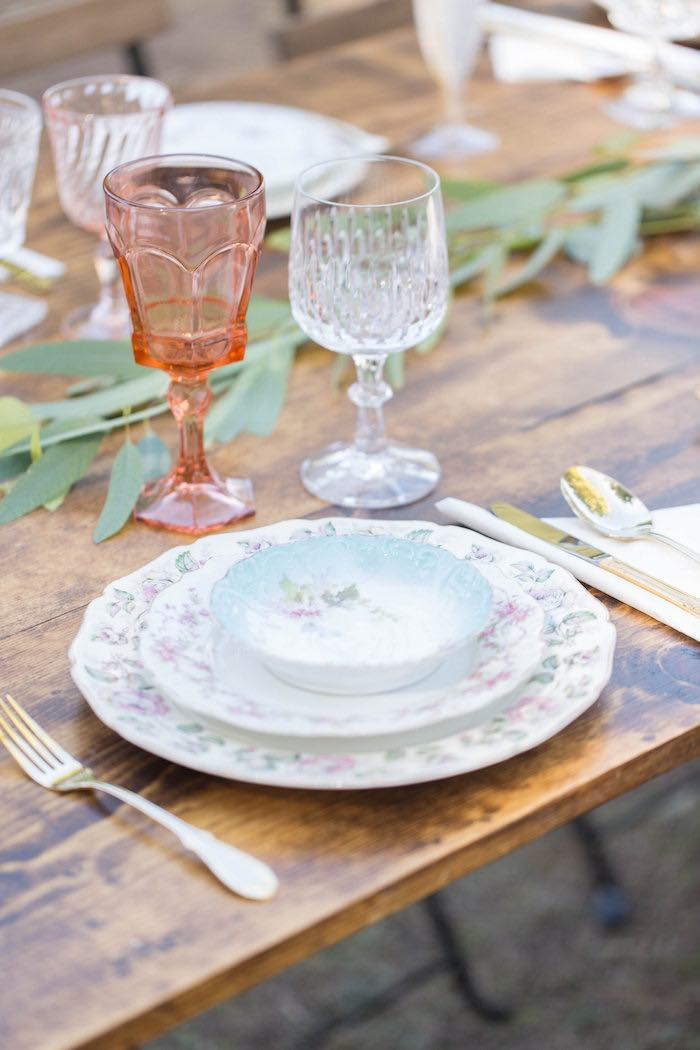 Place Setting from a Garden Bridal Shower via Kara's Party Ideas | KarasPartyIdeas.com (19)