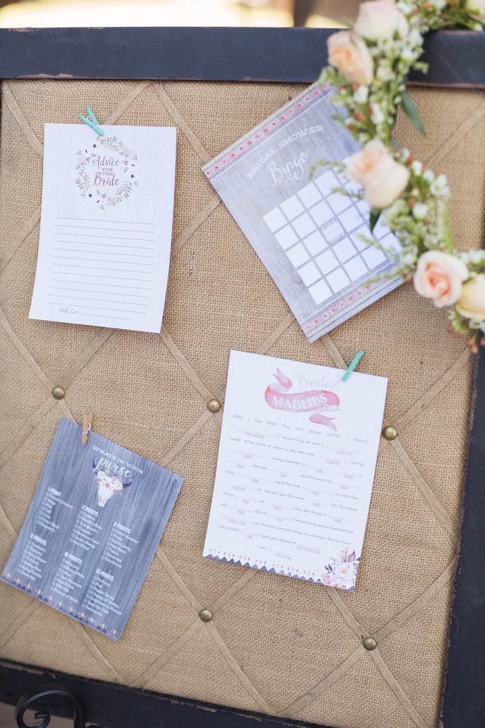 Activity Stationery from a Garden Bridal Shower via Kara's Party Ideas | KarasPartyIdeas.com (17)