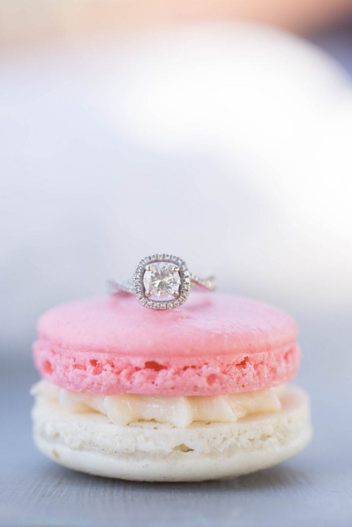 Ring + Macaron from a Garden Bridal Shower via Kara's Party Ideas | KarasPartyIdeas.com (10)