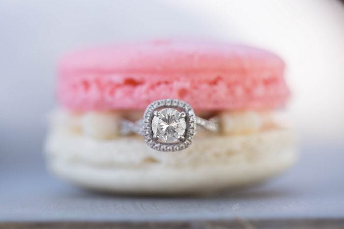 Ring + Macaron from a Garden Bridal Shower via Kara's Party Ideas | KarasPartyIdeas.com (9)