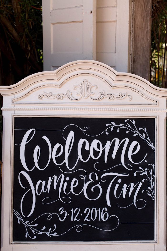 Chalkboard Sign from a Garden Bridal Shower via Kara's Party Ideas | KarasPartyIdeas.com (48)