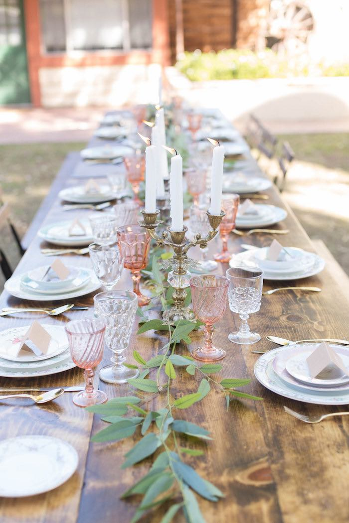 Dining Tablescape from a Garden Bridal Shower via Kara's Party Ideas | KarasPartyIdeas.com (46)