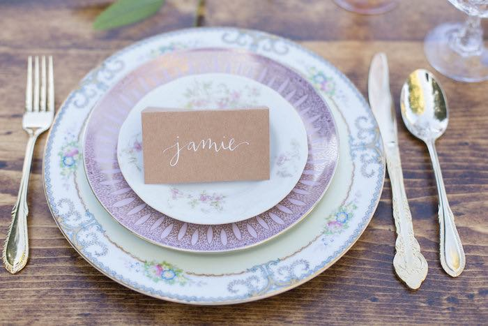 Place Setting from a Garden Bridal Shower via Kara's Party Ideas | KarasPartyIdeas.com (45)