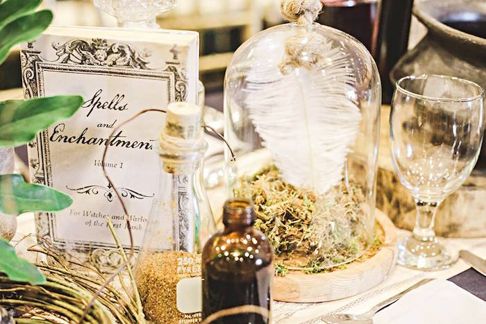 Decor + Centerpieces from a Harry Potter Birthday Party via Kara's Party Ideas | KarasPartyIdeas.com | The Place for All Things Party! (40)