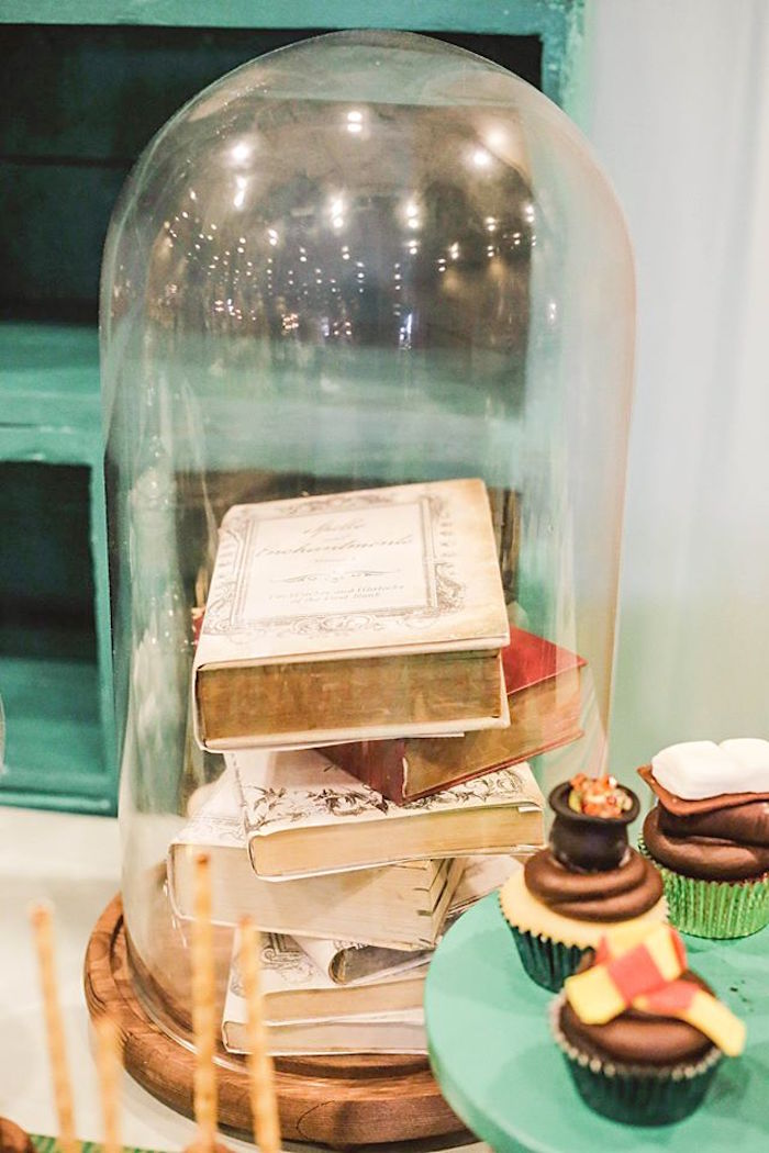 Decor + Centerpiece from a Harry Potter Birthday Party via Kara's Party Ideas | KarasPartyIdeas.com | The Place for All Things Party! (35)