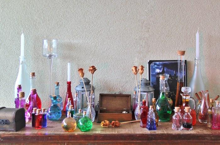 Potion Creation Station from a Harry Potter Birthday Party via Kara's Party Ideas | KarasPartyIdeas.com (18)