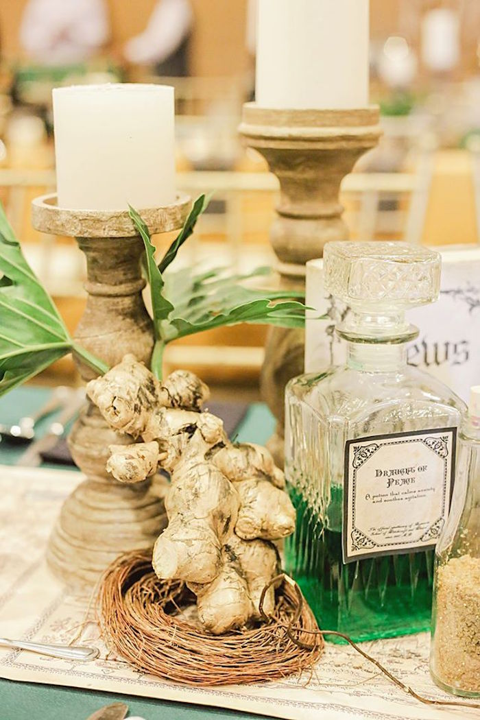 Guest Table Decor from a Harry Potter Birthday Party via Kara's Party Ideas | KarasPartyIdeas.com | The Place for All Things Party! (25)