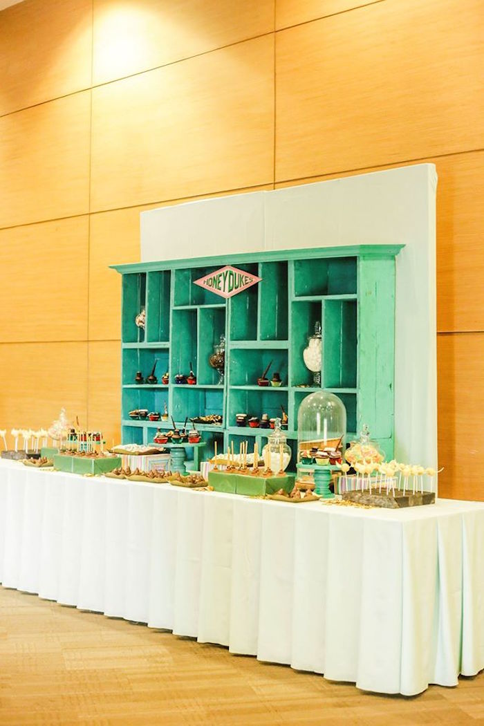 Honey Dukes Sweet Table from a Harry Potter Birthday Party via Kara's Party Ideas | KarasPartyIdeas.com | The Place for All Things Party! (23)