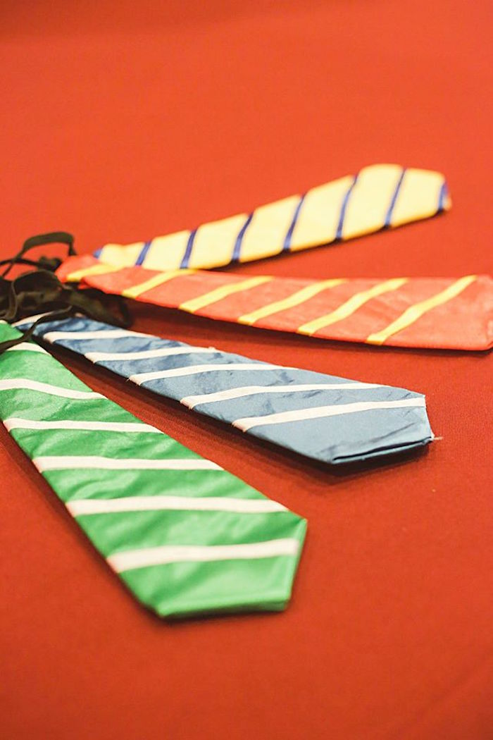 Favor Neckties from a Harry Potter Birthday Party via Kara's Party Ideas | KarasPartyIdeas.com | The Place for All Things Party! (20)