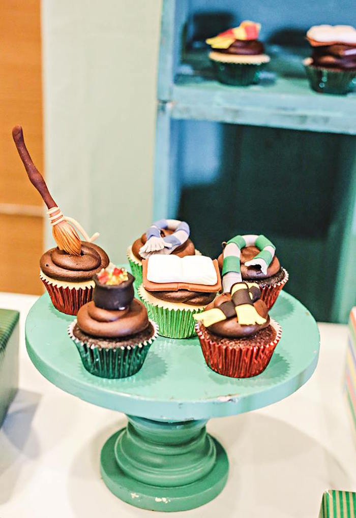 Cupcakes from a Harry Potter Birthday Party via Kara's Party Ideas | KarasPartyIdeas.com | The Place for All Things Party! (54)