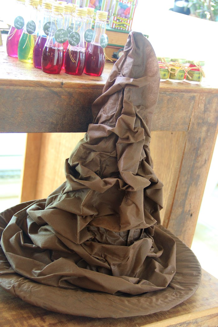 Sorting Hat Prop from a Harry Potter Birthday Party via Kara's Party Ideas | KarasPartyIdeas.com (3)