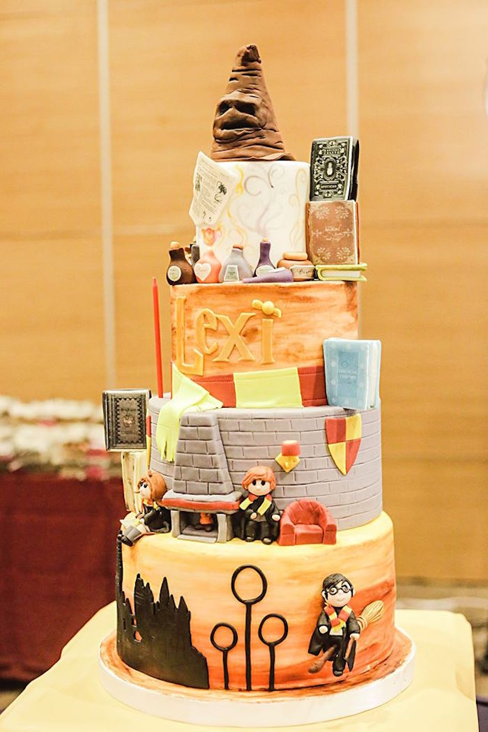 Cake from a Harry Potter Birthday Party via Kara's Party Ideas | KarasPartyIdeas.com | The Place for All Things Party! (11)
