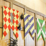 House Flags + Banners from a Harry Potter Birthday Party via Kara's Party Ideas | KarasPartyIdeas.com | The Place for All Things Party! (3)
