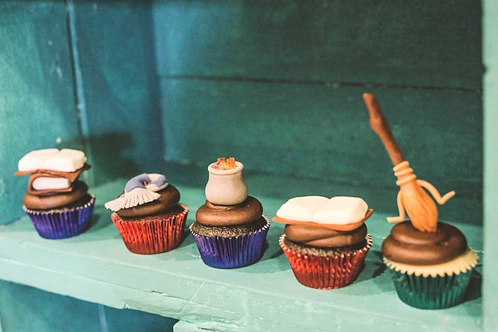 Cupcakes from a Harry Potter Birthday Party via Kara's Party Ideas | KarasPartyIdeas.com | The Place for All Things Party! (52)