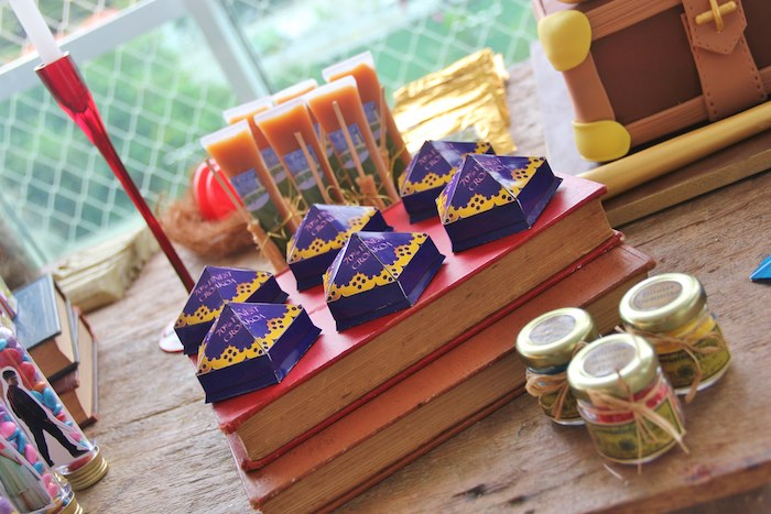 Chocolate Frogs + Favors from a Harry Potter Birthday Party via Kara's Party Ideas | KarasPartyIdeas.com (37)