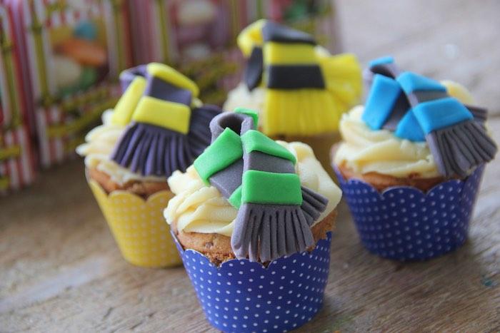 Cupcakes from a Harry Potter Birthday Party via Kara's Party Ideas | KarasPartyIdeas.com (36)