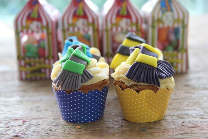 Cupcakes from a Harry Potter Birthday Party via Kara's Party Ideas | KarasPartyIdeas.com (35)