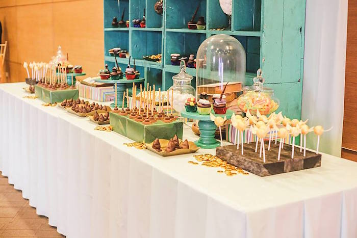 Dessert Table Details from a Harry Potter Birthday Party via Kara's Party Ideas | KarasPartyIdeas.com | The Place for All Things Party! (48)