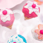 Ice cream Cone Cake Pops from an Ice Cream Shoppe Birthday Party via Kara's Party Ideas | KarasPartyIdeas.com (2)