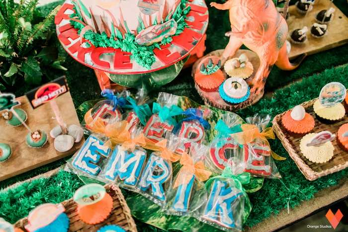 Sweets from a Jurassic Park Themed Birthday Party via Kara's Party Ideas | The Place for All Things Party! KarasPartyIdeas.com (7)