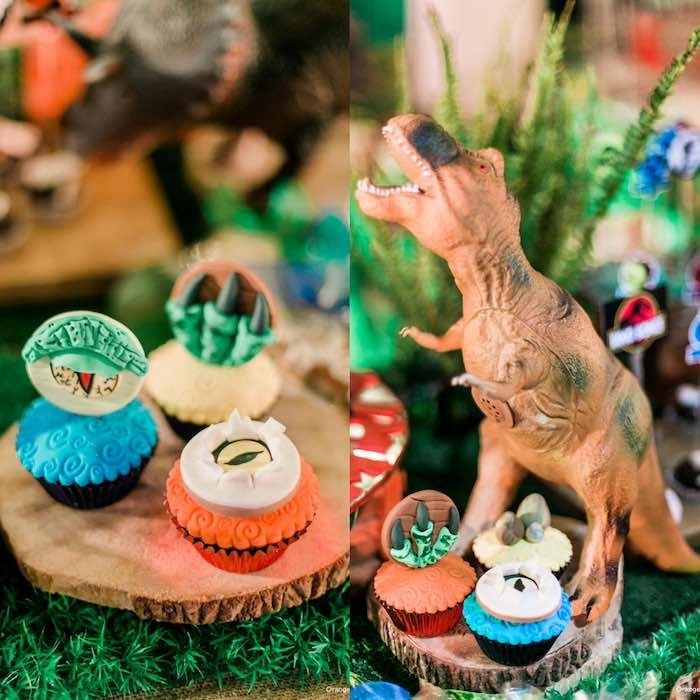 Cupcakes from a Jurassic Park Themed Birthday Party via Kara's Party Ideas | The Place for All Things Party! KarasPartyIdeas.com (17)