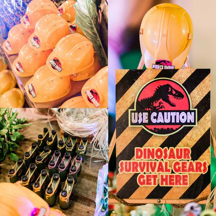 Favors From A Jurassic Park Themed Birthday Party Via Karas Ideas