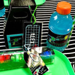 Place Setting from a Laser Tag Birthday Party via Kara's Party Ideas | KarasPartyIdeas.com (3)