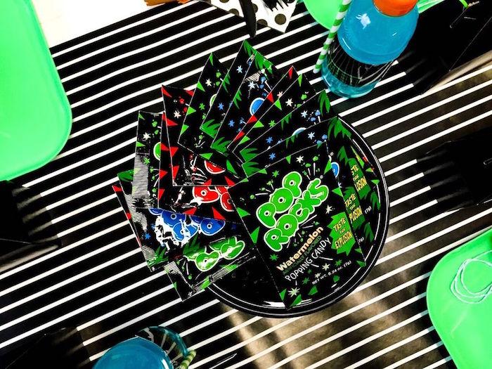 Favor Pop Rocks from a Laser Tag Birthday Party via Kara's Party Ideas | KarasPartyIdeas.com (20)