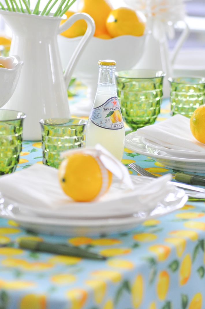 Lemonade | Lemon tablescape for Mother's Day by Kara Allen | Kara's Party Ideas KarasPartyIdeas.com_-101