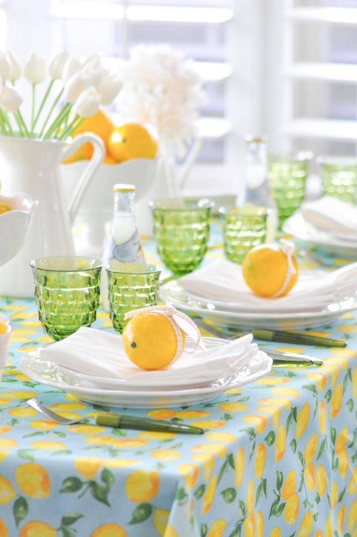 Lemonade | Lemon tablescape for Mother's Day by Kara Allen | Kara's Party Ideas KarasPartyIdeas.com_-32