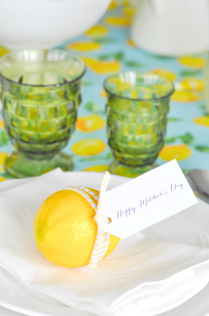 Karas Party Ideas Fresh Lemon Mothers Day Tablescape