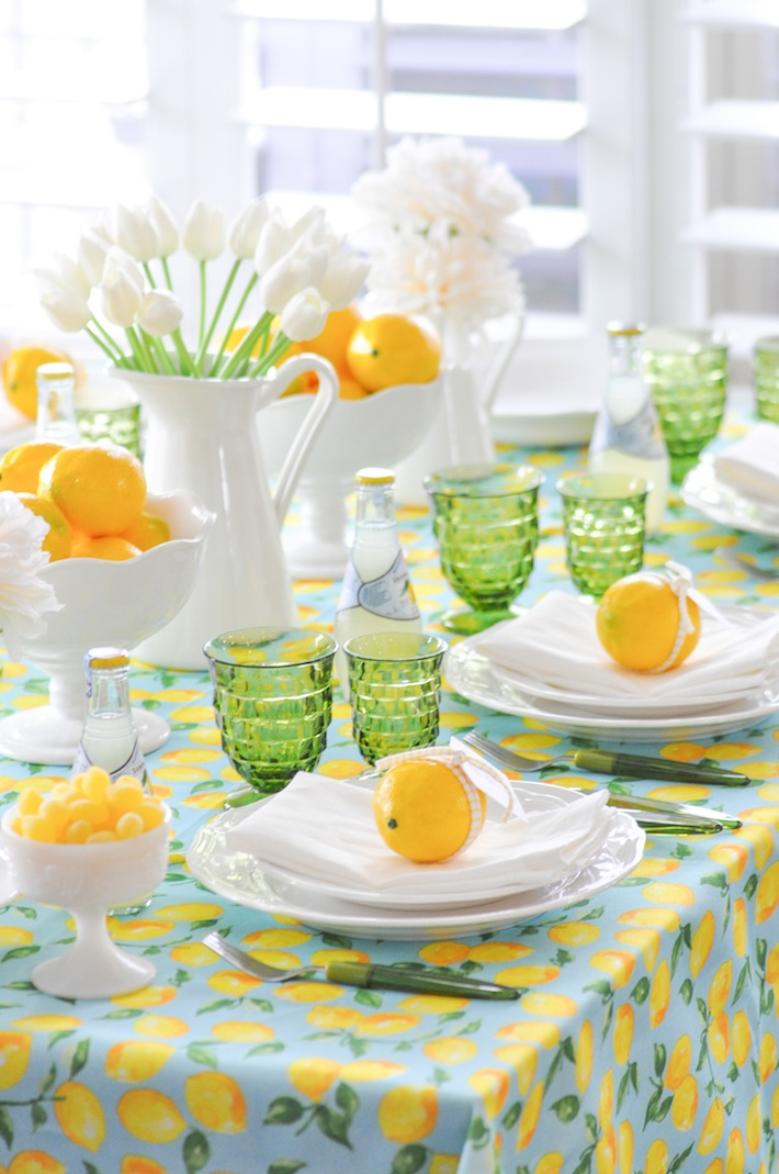 Lemonade | Lemon tablescape for Mother's Day by Kara Allen | Kara's Party Ideas KarasPartyIdeas.com_-68