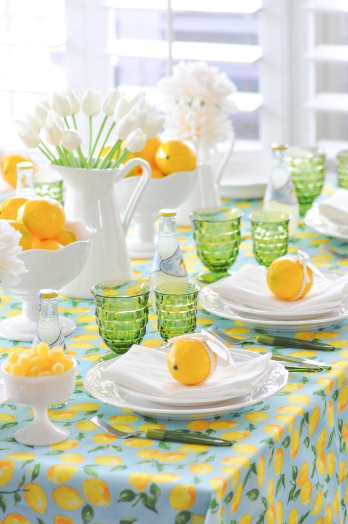 Lemonade | Lemon tablescape for Mother's Day by Kara Allen | Kara's Party Ideas KarasPartyIdeas.com_-68