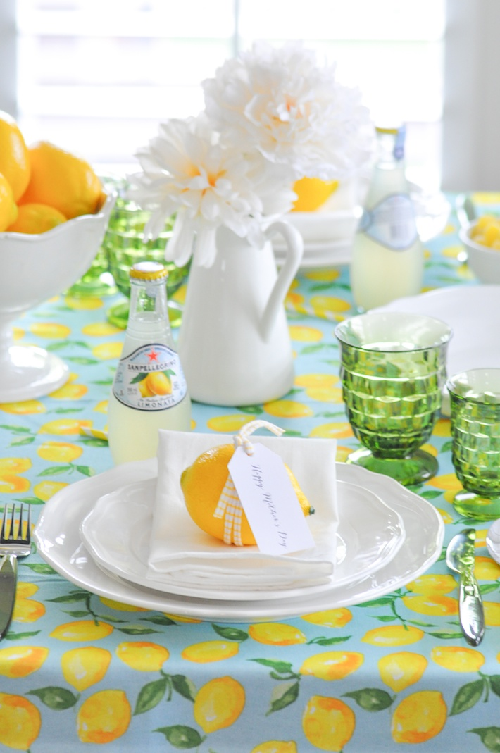 Lemonade | Lemon tablescape for Mother's Day by Kara Allen | Kara's Party Ideas KarasPartyIdeas.com_-78
