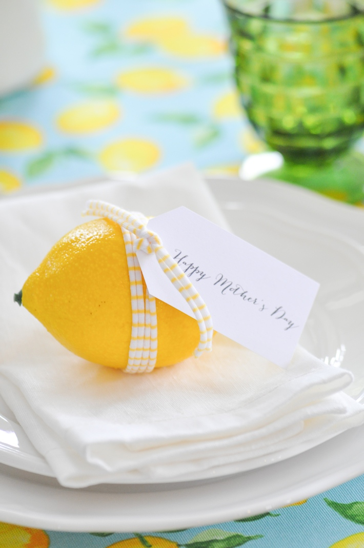 Lemonade | Lemon tablescape for Mother's Day by Kara Allen | Kara's Party Ideas KarasPartyIdeas.com_