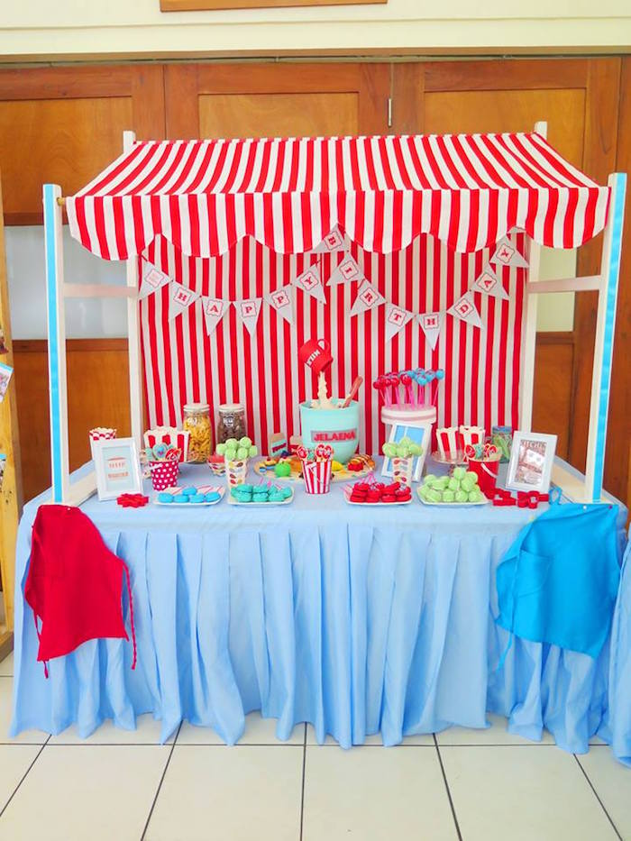 Sweet Table Stand from a Little Chef Birthday Party via Kara's Party Ideas! KarasPartyIdeas.com (33)