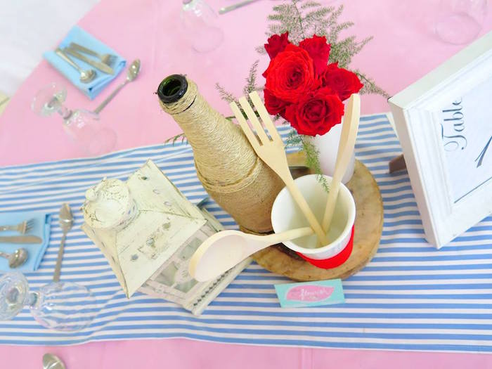 Guest Tabletop + Centerpiece from a Little Chef Birthday Party via Kara's Party Ideas! KarasPartyIdeas.com (29)