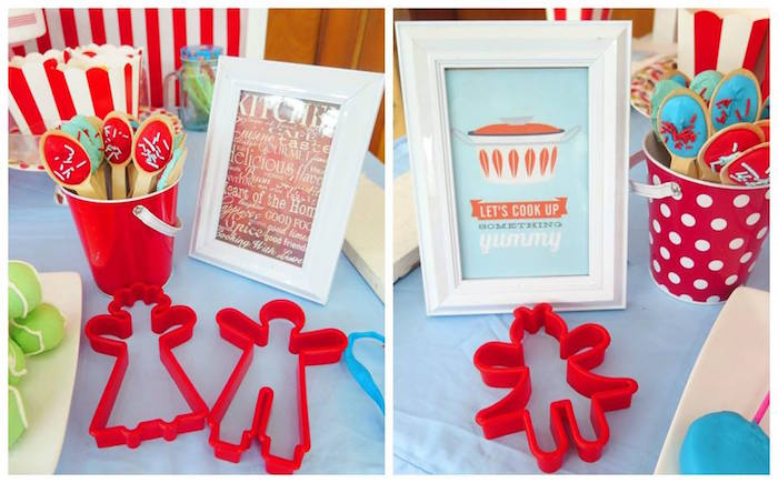 Favors + Decor from a Little Chef Birthday Party via Kara's Party Ideas! KarasPartyIdeas.com (26)