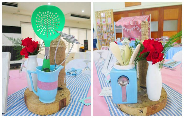 Table Centerpieces from a Little Chef Birthday Party via Kara's Party Ideas! KarasPartyIdeas.com (25)